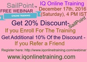 Very interactive & career oriented SailPoint Training FREE WEBINAR